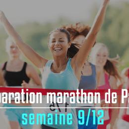 Plan pour le marathon de Paris