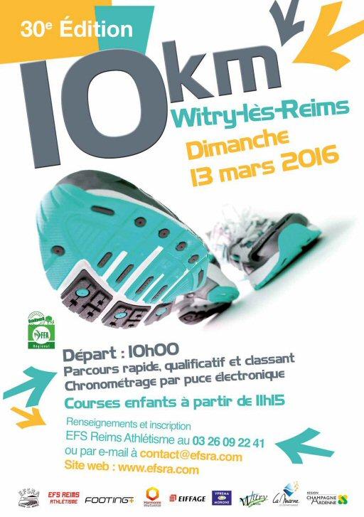 10KM de WITRY LES REIMS - 2016