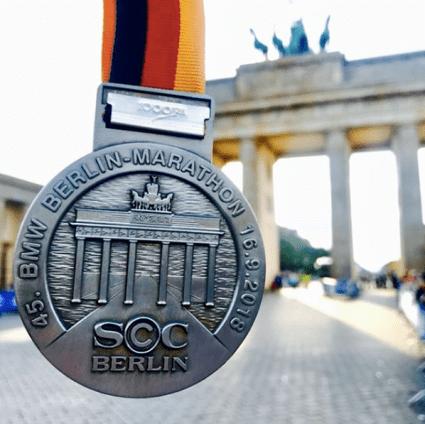 Médaille finisher du marathon de Berlin 2018