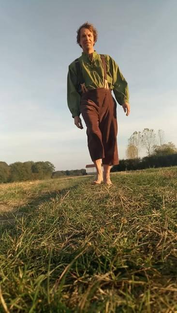 Bruno Redon, coureur pieds nus hobbit