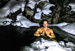 Méditation dans l'eau froide