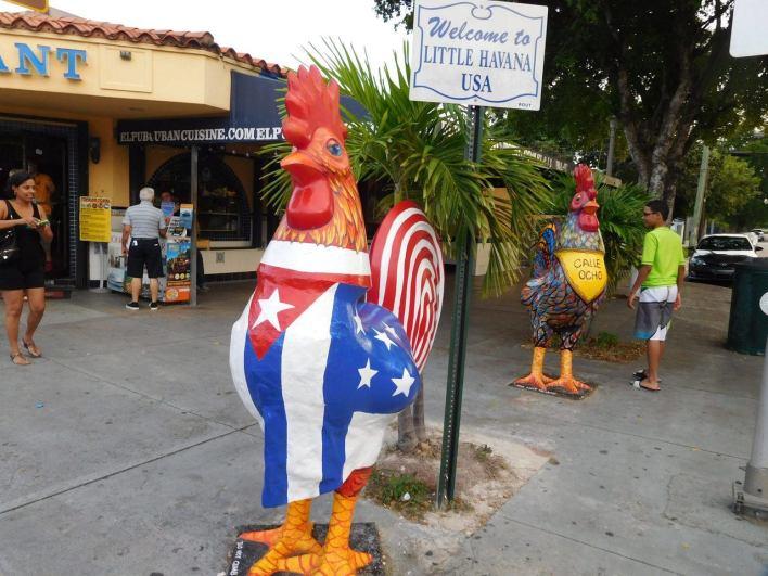 Le coq est le symbole du quartier. Calle Ocho - Miami - Floride