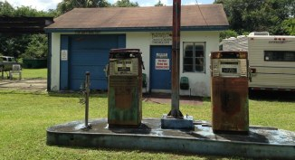 Station service abandonnée - Loop Road -Everglades - Floride