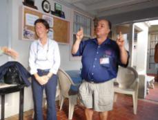 Louise Léger consule du Canada, et Richard Clavet, patron de Richard's Motel (et des hôtels !) soirée Saint Jean-Baptiste CCQF