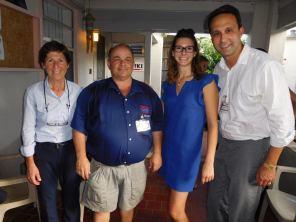 Louise Léger, Richard Clavet, Justine Croteau (directrice de la CCQF) et Glenn Cooper (co-directeur de la CCQF).