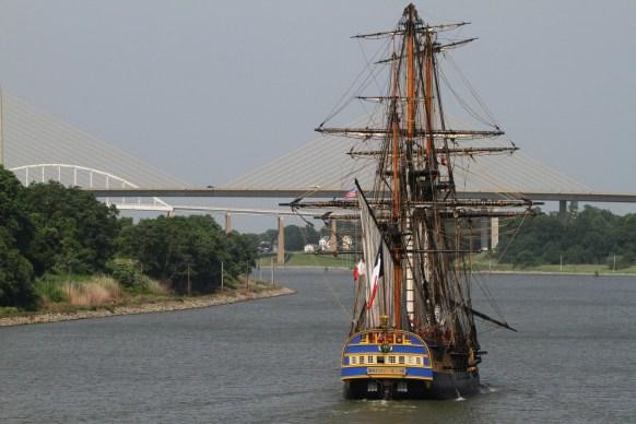 Arrivée de l'Hermione La Fayette à Philadelphie