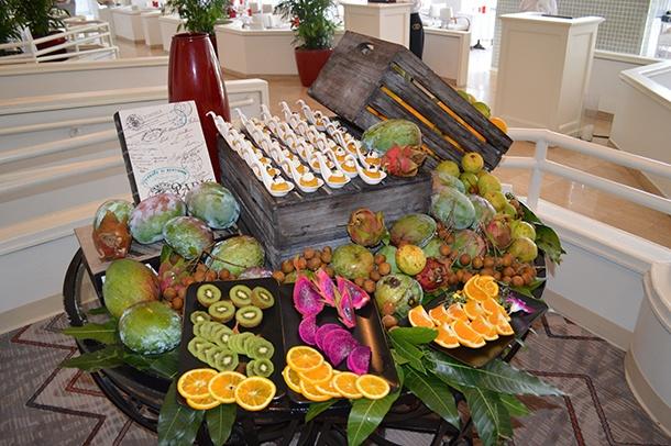 Fruits et légumes de Floride au restaurant la riviera de Miami