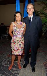 Valérie et Philippe Létrilliart, consul général de France à Miami