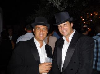 Eric Even et Cyril Kadouch des French Tuesdays, durant leur grande Bastille Day party au Hyde du SLS hôtel de Miami Beach