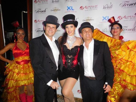 Eric Even et Cyril Kadouch des French Tuesdays, durant leur grande Bastille Day party au Hyde du SLS hôtel de Miami Beach