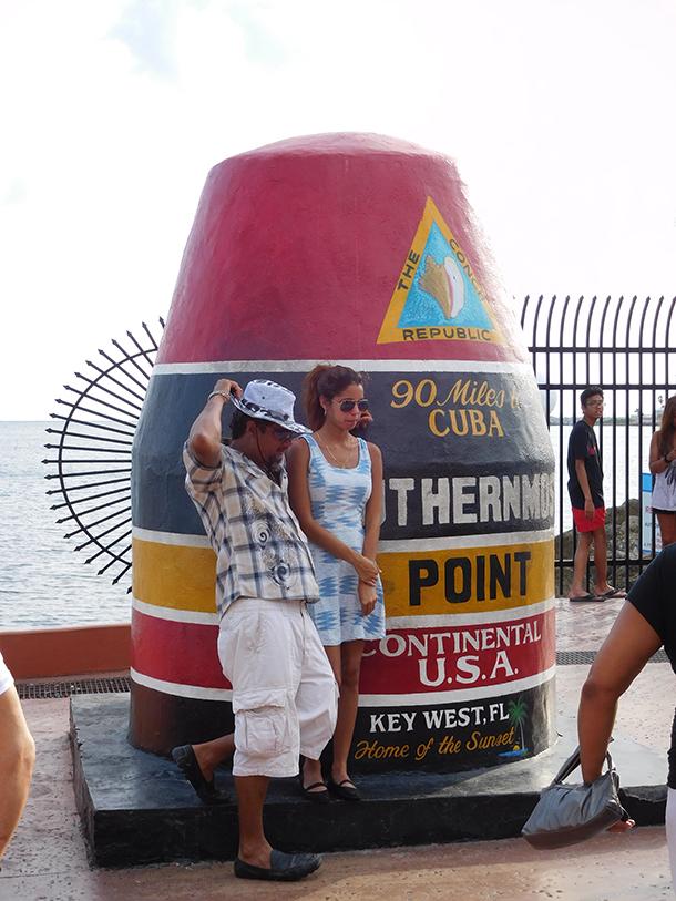Borne la plus au sud des Etats-Unis, à 90 miles de Cuba. Key West - Floride