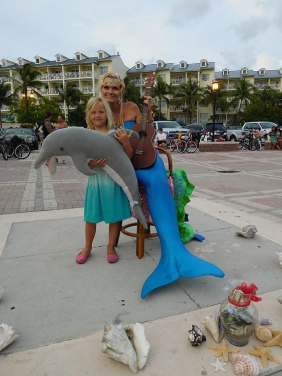 Sirène sur les quais de Key West - Floride