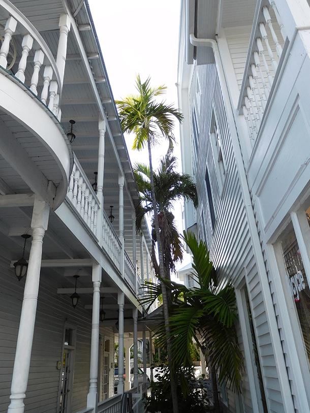 Vieux cottages en bois à Key West en Floride