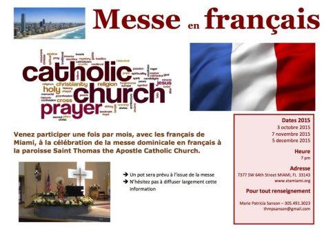Messes en Français à Miami
