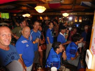 France-Irlande à Waxy's Fort Lauderdale durant la coupe du monde de rugby.