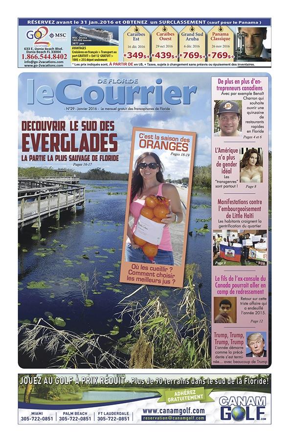 Courrier de Floride de Janvier 2016