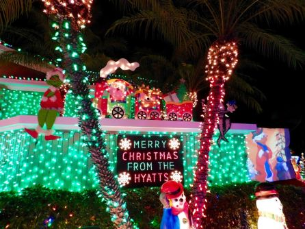Décorations de Noël de la Hyatt Family à Plantation en Floride.