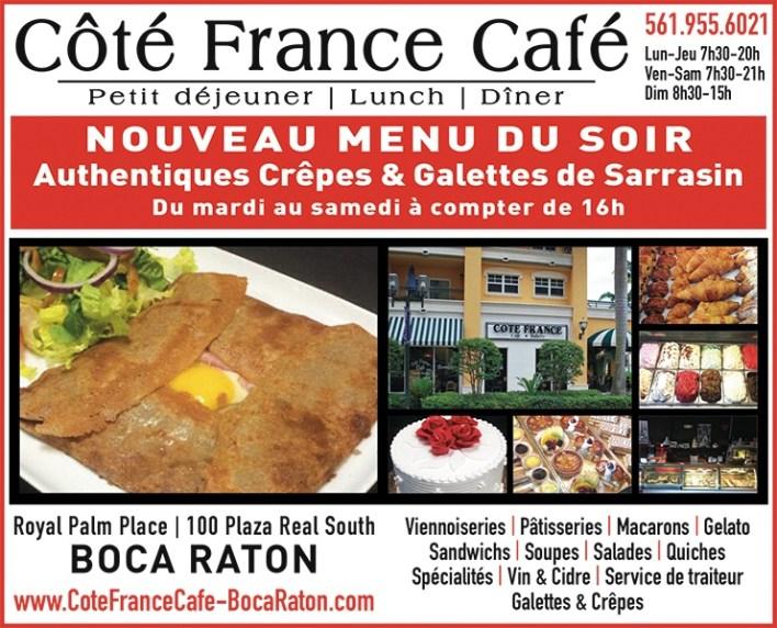 Côté France Café Boca raton