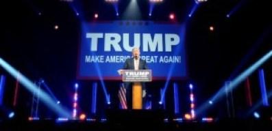 Donald Trump en metting