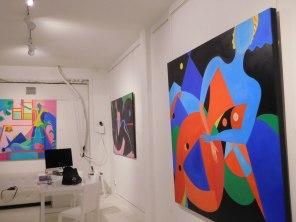 Peintures de Mercedes Lasarte - Blooming Beauties exhibition à la Macaya Gallery de Miami