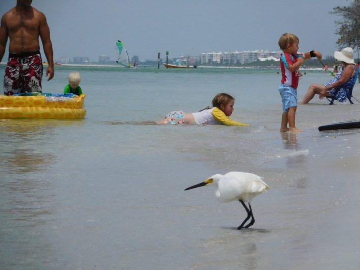 Vacances en famille sur la plage de Delnor-Wiggins Pass State Park à Naples Floride