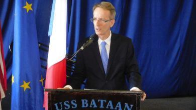 Photo of Mot d'accueil du consul de France, Philippe Létrilliart, aux nouveaux arrivants