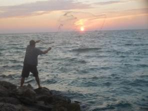 Pêcheurs sur la Plage de Casey Key / Nokomis / Floride