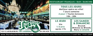 Thursday's Restaurant Las Olas Fort Lauderdale