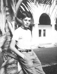 JFK, enfant, à la propriété de Palm Beach.