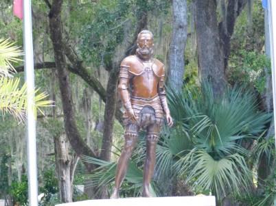 Statue de Menendez au Parc de la Fontaine de Jouvence / St Augustine / Floride