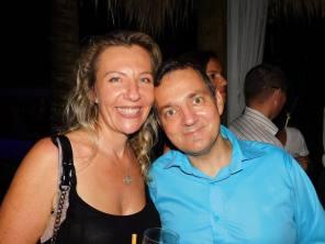 Laurence et Ghislain Nos à la soirée Fipa à Miami