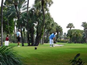 Golfeur à Palm Beach