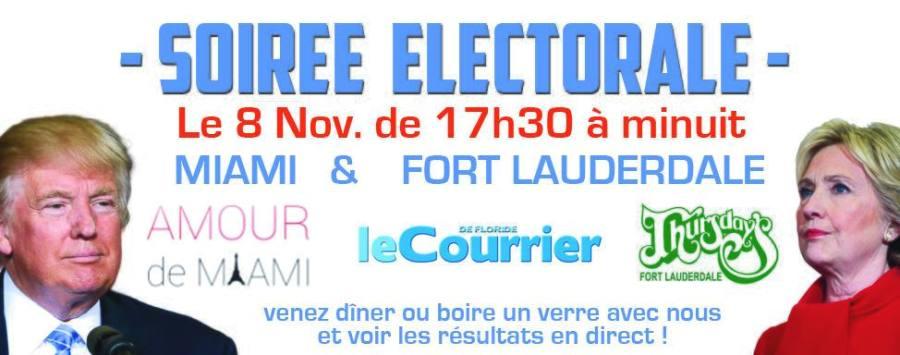 soirée électorale Miami Fort Lauderdale