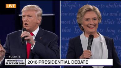 Photo of Vilaine foire d'empoigne entre Trump et Clinton durant le 2ème débat présidentiel