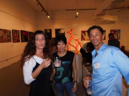 Les artistes Sylvie Fournier-Popov et Jean-Luc Thebaud - Soirée Made in France Exhibit 2016