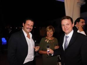 Eric Even (French & Famous), avec deux autres Français et célèbres : Geneviève Alix (Miami Accueil) et Olivier Sureau (Jade Associates).