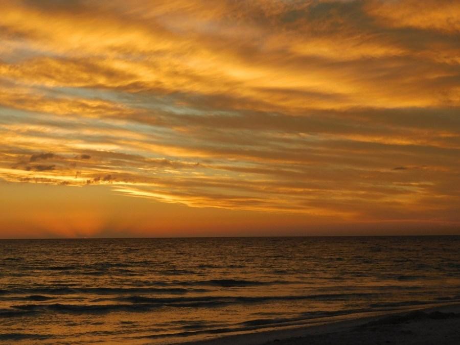 Coucher de soleil sur la plage de Marco Island