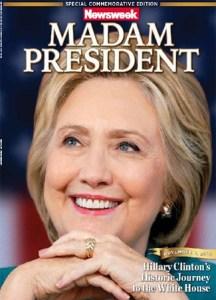 La Une historique du numéro de Newsweek, livré aux libraires et supermarchés dans la nuit de l'élection.