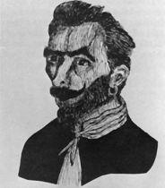 José Gaspar dessiné dans une revue publiée en 1900.