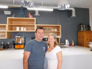 Véronique et François de L'épicerie Art Café à Wynwood-Miami