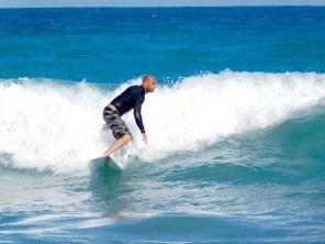 Surf à Bathtub Beach à Stuart en Floride
