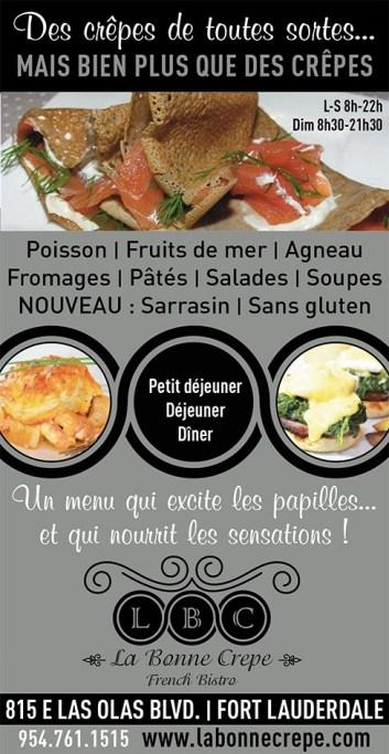 La Bonne Crêpe, restaurant français sur Las Olas à Fort Lauderdale / French Restaurant