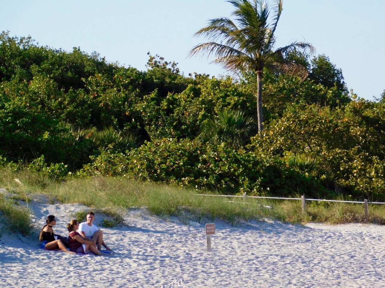 La plage de Cape Florida State Park, sur l'île de Key Biscayne (Miami en Floride)