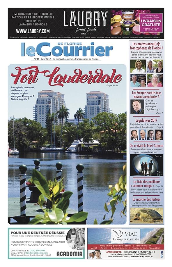 Couverture du Courrier de Floride de Juin 2017
