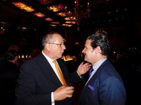 Xavier Capdevielle et Eric Even au gala de la FACC Miami 2017.