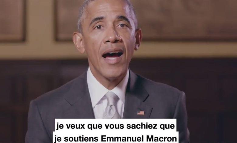 """Barack Obama """"Je soutiens Emmanuel Macron"""""""