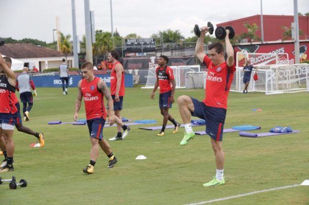 PSG Entrainement à Miami