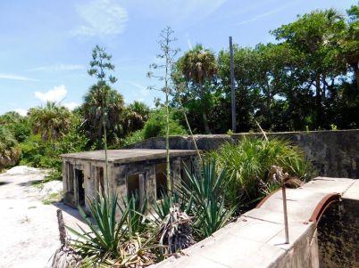 Ruines d'un fort sur l'île de Egmont Key en Floride
