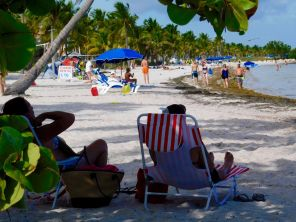 Plage de Smathers Beach à Key West.