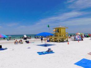 La plage de Siesta Key Beach à Sarasota en Floride.
